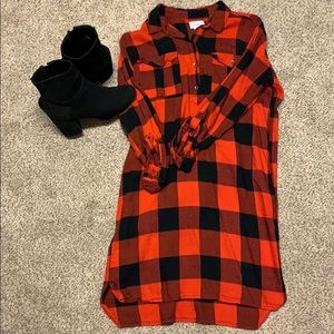 Dresses & Skirts - Red and black (not orange and black) flannel dress